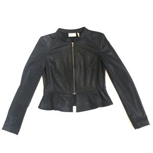 Frenchi peplum lightweight zip jacket M